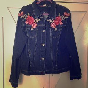 Floral Wrangler Authentics Jean Jacket
